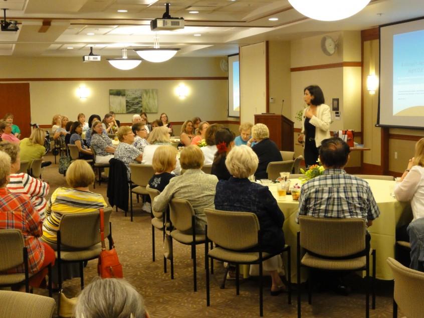Judy speaking at Elmhurst Hospital.
